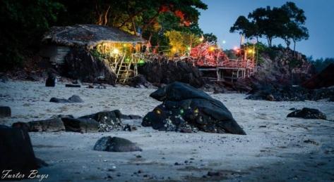 The Rock Bar at night...