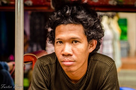 Takiab (Thai word for Chopsticks) has no front teeth. He said I could photograph him, but he wouldn't smile. We shared a few laughs over a beer. Khao San Road, Bangkok, November 2013